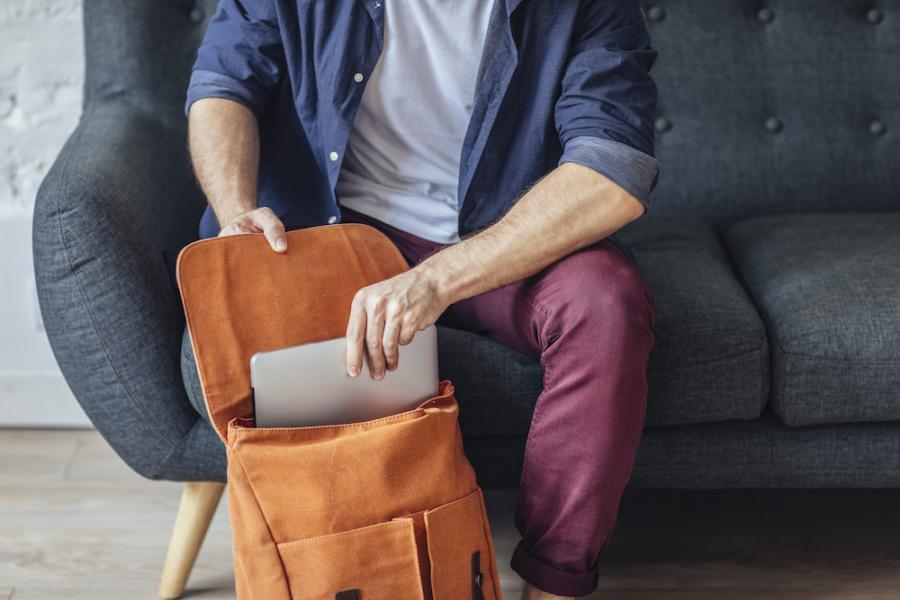 Back to the Office Series: DIY Messenger Bag!