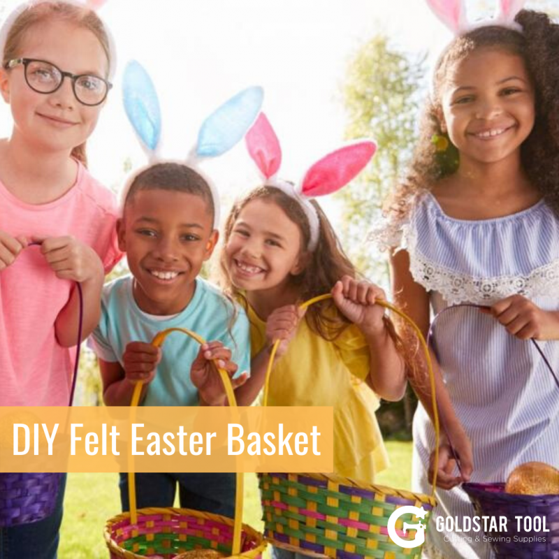 Kids Craft Series: DIY Felt Easter Baskets