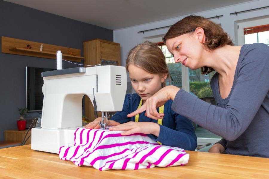 Teaching Your Children How to Use a Sewing Machine