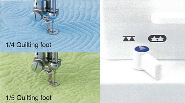 JUKI Two Type of Quilting Foot Drop Feed