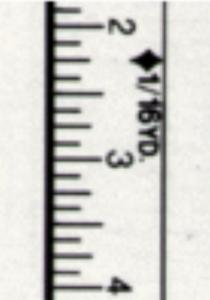 Fairgate Yardage Ruler 36