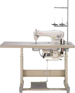 Singer 191D-30 Straight Stitch Industrial Sewing Machine Ideal for Medium to Heavy Fabrics With Table and Servo Motor