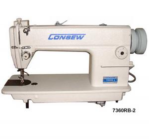 Consew 7360RB-2 Single Needle Lockstitch Sewing Machines with Table and Servo Motor