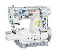 Pegasus W3662P-01 5 Thread Coverstitch Oil Barrier Cylinder Bed Industrial Interlock Stitch Machine With Table and Servo Motor