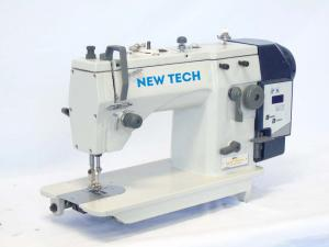 New-Tech 20U93D Zig-Zag Lockstitch Industrial Sewing Machine With Table and Built In Direct Drive Servo Motor