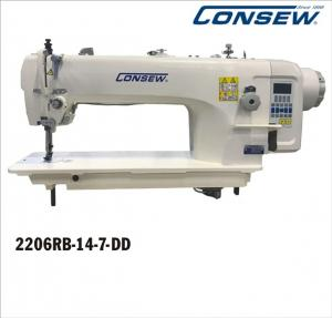 Consew 2206RB-14-7-DD Direct Drive Heavy Duty Single Needle Triple Feed, Walking Foot Industrial Sewing Machine With Table and Servo Motor