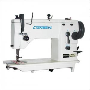 Consew CN2093R Single Needle Drop Feed Zig-Zag Lockstitch Industrial Sewing Machine With Table and Servo Motor
