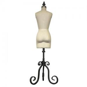 Miniature Half Scale Ladies Dress Form (614A)