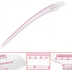 Clear Plastic French Curve Ruler 20
