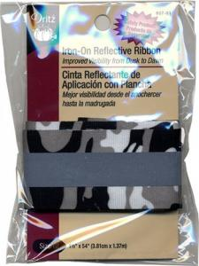 Iron-On Reflective Ribbon, Camouflage, by Dritz choose color