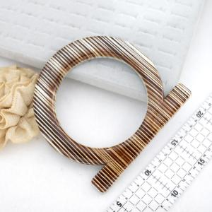 Purse Handle - Round Creme Stripe