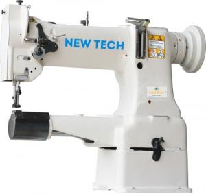New-Tech GC-8B Cylindrical Bed Compound Feed Lockstitch Industrial Sewing Machine With Table and Servo Motor