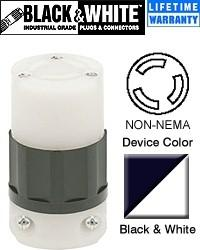 Non-NEMA Connector Industrial - Black-White