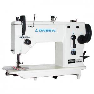 Consew CN2053R-1 Single Needle Drop Feed Zig-Zag Lockstitch Industrial Sewing Machine With Table and Servo Motor