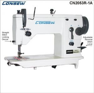 Consew CN2053R-1A Single Needle Drop Feed Zig-Zag Lockstitch Industrial Sewing Machine With Table and Servo Motor