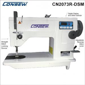 Consew CN2073R-DSM Single Needle Drop Feed Zig-Zag Lockstitch Industrial Sewing Machine With Table and Servo Motor