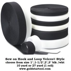Sew-On Hook OR Loop (sold separately)