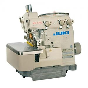 JUKI MO-6704-150 Pearl 1.6mm Rolled Hem 3-Thread High-speed Overlock Industrial Serger With Table and Servo Motor