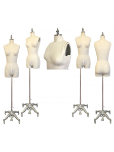 Industry Grade Female Half Body Dress Form with Legs and Collapsible Shoulder #601A