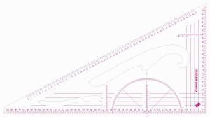 Transparent Scale Ruler, Metric (1:3, 1:4)