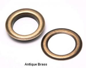 Two Piece Antique Brass Grommets