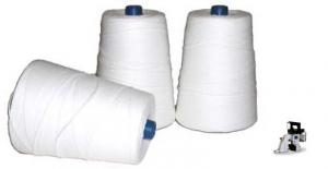Heavy Duty Poly Thread (T-190, #6) for Bag Closing Machines, Canvas & More (1000 yards)
