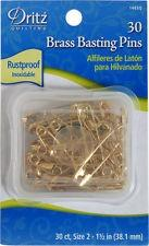 Solid Brass Basting Safety Pins Size #2 - Dritz