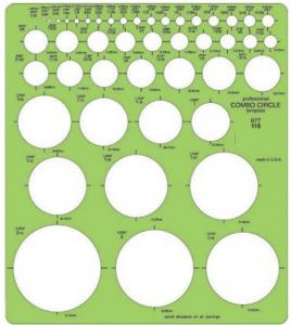 45 circle templates from 1/16