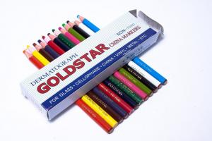 GoldStar China Markers Peel Off Grease Wax Pencil