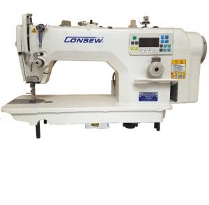 Consew 7360R-7DD High Speed Single Needle Drop Feed Lockstitch Industrial Sewing Machine with Table and Servo Motor