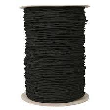 Drawstring Cord by the Spool, Polyester WHITE or BLACK (144 yds)