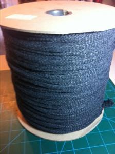 Full Spool 100% Cotton Charcoal Flat Drawstring/Hoodie Cord