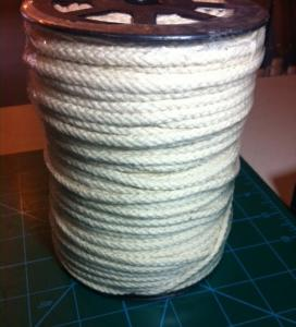 Drawstring Cord by the Spool, 100% Cotton NATURAL