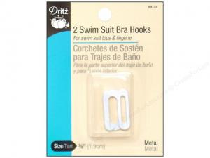 Swim Suit Bra Hooks by Dritz BLACK, WHITE, or CLEAR (pack of 2)