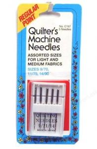 Quilter's Machine Sewing Needles (assorted, 5/pack)