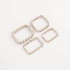Not Welded Metal Ring - Square Ring