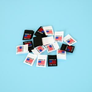 Printed Made In USA Flag Clothing Tags