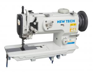 New-Tech GC-1508NH Extra Heavy Duty Single Needle Unison Feed Lock Stitch Machine With Vertical-axis Large Hook With Table and Servo Motor