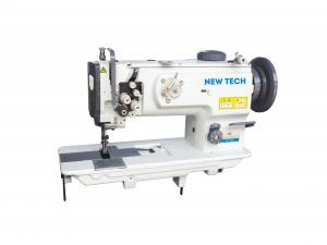 New-Tech GC-1560 2 Needle Unison Feed Lockstitch Industrial Sewing Machine With Table and Servo Motor