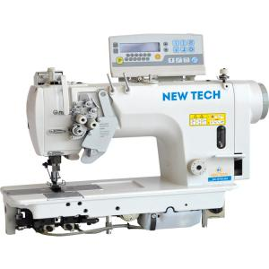 New-Tech GC-8752-04 Twin Needle Direct Drive Split Bar Lockstitch Large Hook & Thread Trimmer Industrial Sewing Machine With Table and Clutch Motor​