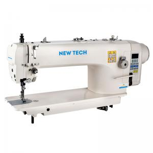New-Tech GC-9922A Triple Feed Heavy Duty Single Needle Drop Feed Lockstitch Upholstery Industrial Sewing Machine With Table and Built In Direct Drive Servo Motor