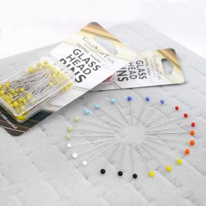 Assorted Color Glass Head Silk Pins