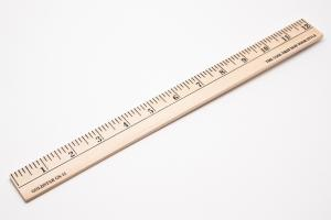 Ruler, Wood CHOOSE SIZE