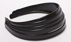 12 Pack of Black Plastic Toothless Headbands