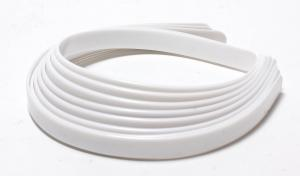 12 Pack of White Plastic Toothless Headbands