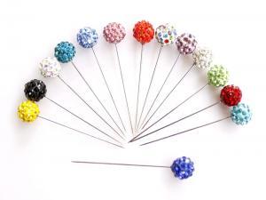 Rhinestone Head Scarf Pins - Multicolor