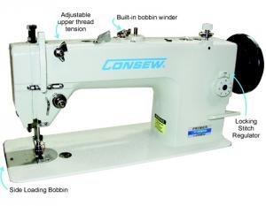 ​Consew Premier 1206RB Drop Feed Needle Feed Walking Foot Lockstitch Industrial Sewing Machine With Table and Servo Motor​