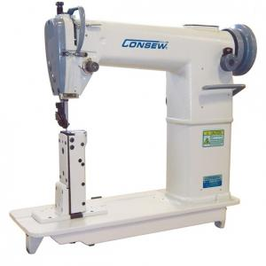 Consew 228R-11-1 High Speed, Post Bed, 1 Needle, Drop Feed, Lockstitch Industrial Sewing Machine With Table and Servo Motor
