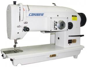 ​Consew 199RB-1A-1 Single Needle, Drop Feed, Zig-Zag, Lockstitch Industrial Sewing Machine With Table and Servo Motor​