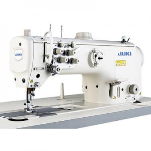 JUKI LU-2860 2 Needle Unison Feed Walking Foot Semi-Dry Direct-Drive Lockstitch Industrial Sewing Machine With Table and Servo Motor